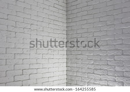 white brick wall, grungy grey texture