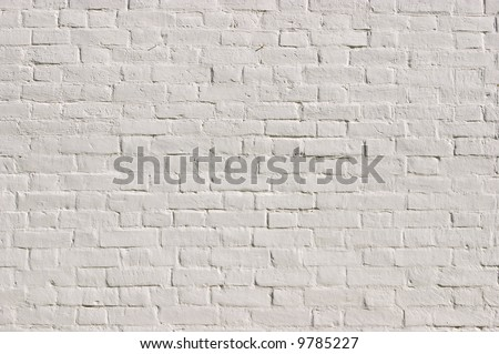 white brick wall pattern (see also ID: 36786259) - stock photo