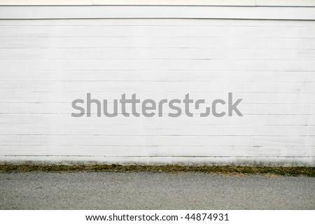 white brick wall pavement - stock photo