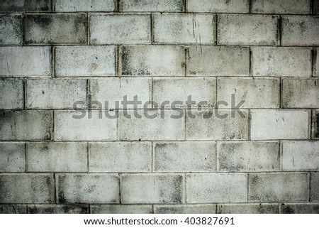 White brick wall, perfect as a background