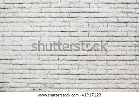 white brick wall texture - stock photo