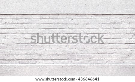 white brick wall texture background on day noon light for interior or exterior brick wall building and  decoration texture background.