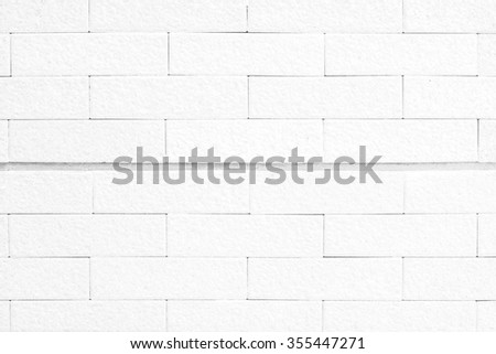 White brick wall texture for background - stock photo