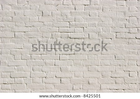 white brick wall texture (see also ID: 36786259) - stock photo