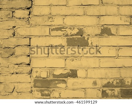White brick wall texture useful as a background vintage sepia