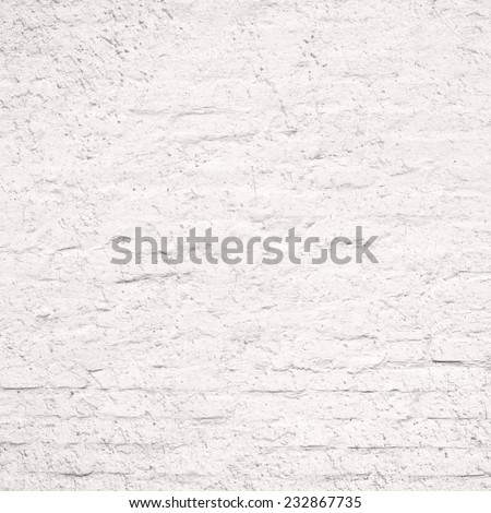 White Bricked Wall Texture - stock photo
