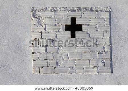 white bricks wall, urban picture - stock photo