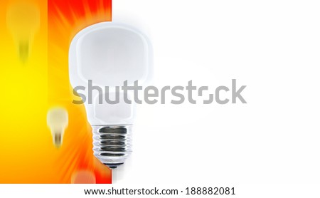 White bulb isolated with coppy-space - stock photo