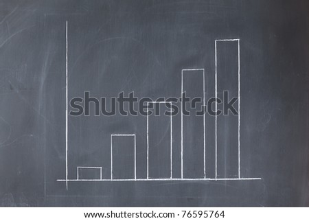 White business diagram on a blackboard