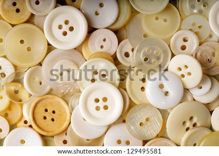 White buttons