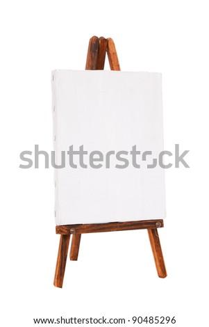 white canvas - stock photo