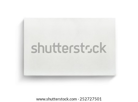 White canvas frame on white background. - stock photo