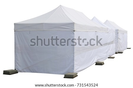 White canvas no name tents is installed on the street. The corners of the structures  sc 1 st  Shutterstock & White Canvas No Name Tents Installed Stock Photo 731543524 ...
