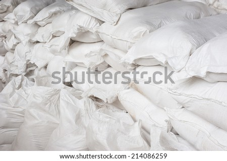 White canvas sack - stock photo