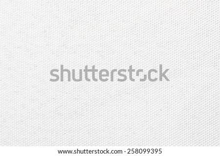 White canvas texture. - stock photo