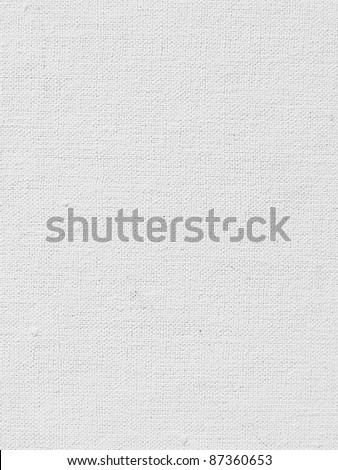 White canvas texture or background - stock photo