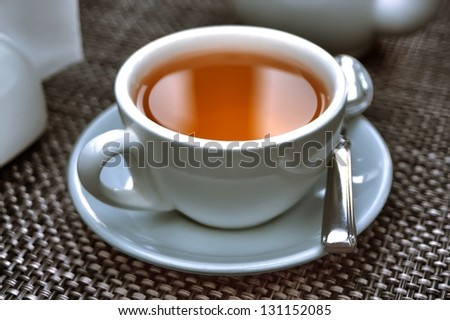 white cap of tea - stock photo