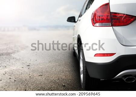 white car  - stock photo