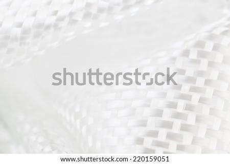 White Carbon Fiber - stock photo