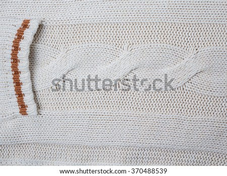 White cardigan pocket. Backgrounds and textures - stock photo