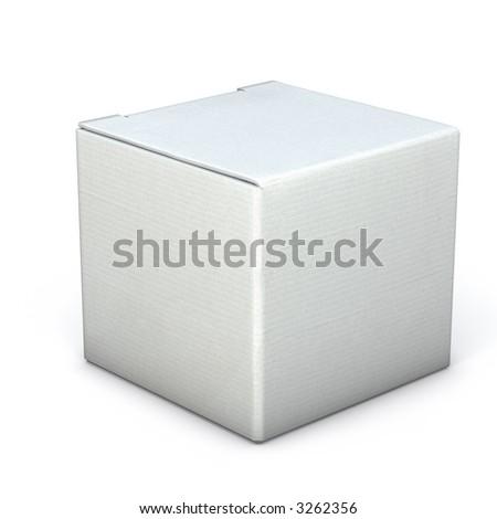 White Carton Box Mockup - stock photo