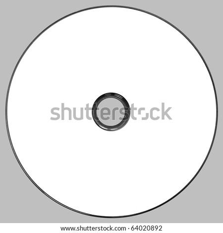 White CD, DVD on gray background - stock photo