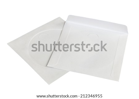 White CD envelope made by recycled paper - stock photo