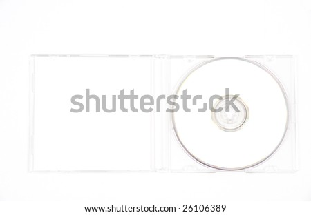 White CD in a clear CD case - stock photo
