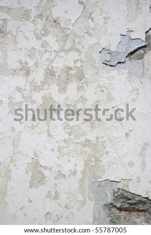 white cement wall - stock photo