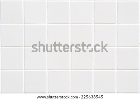 white ceramic tile with 24 squares in rectangular form, cream colour new mosaic, white abstract mosaic background - stock photo