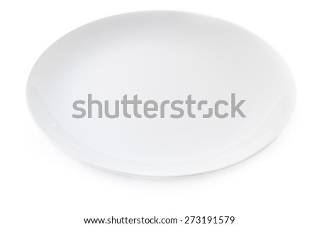 white ceramics plate isolated on white background
