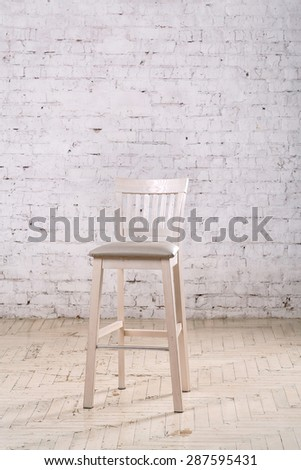 White chair in the room  - stock photo