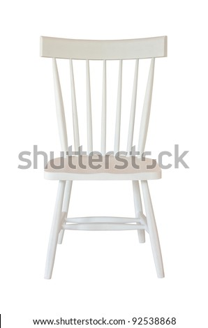 White chair isolated - stock photo