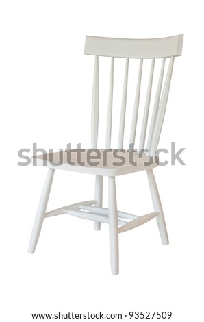 White chair isolated