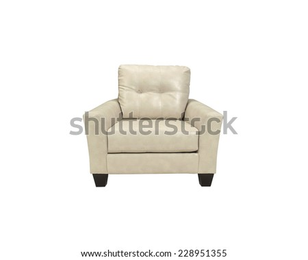 White chair isolated on white