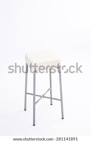 White chair on white background - stock photo