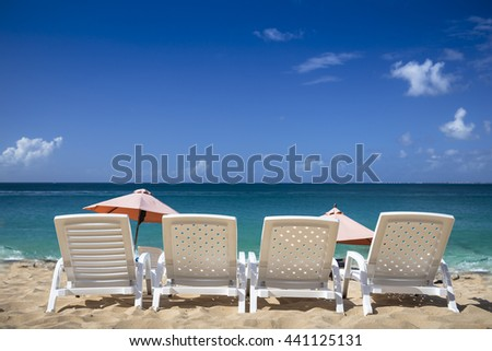 White chairs at the beach