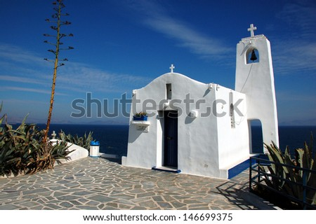 White Chapel by the Sea - stock photo