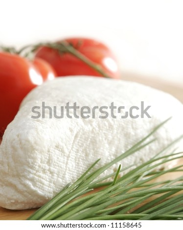 White cheese - stock photo