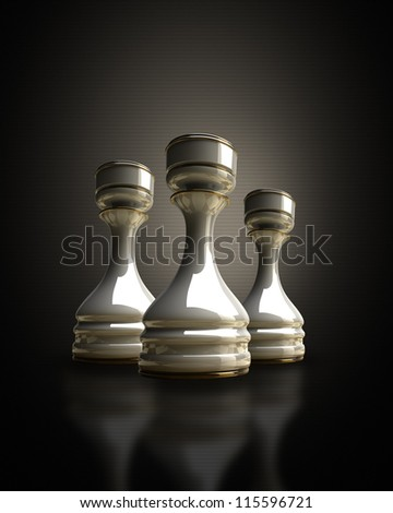 White chess rook background 3d illustration. high resolution