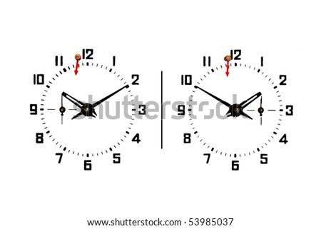 White chess sport strategy game time clock dial - stock photo