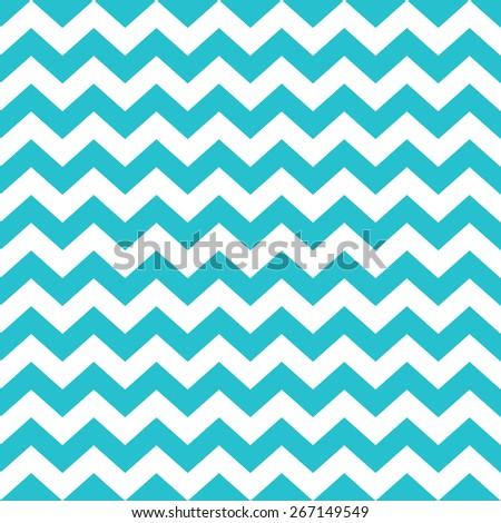 Chevron Zig Zag Hi Multi Chiffon Fabric  WHITETURQUOISE