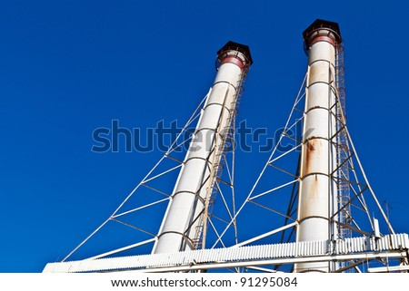 White Chimneys and Blue Sky