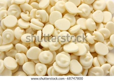 white chocolate chips - stock photo