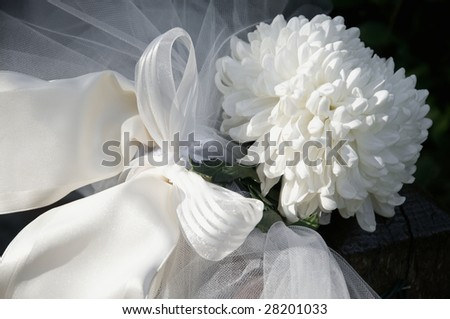 white chrysanthemum wedding decoration - stock photo
