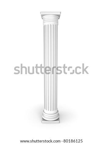 White Classic Column - stock photo