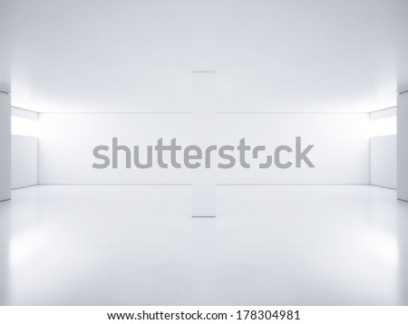 White clean room - stock photo