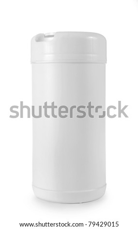 white clean tissue packaging for new design - stock photo