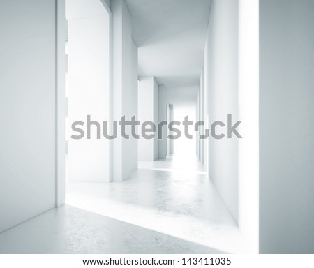 white clear office space