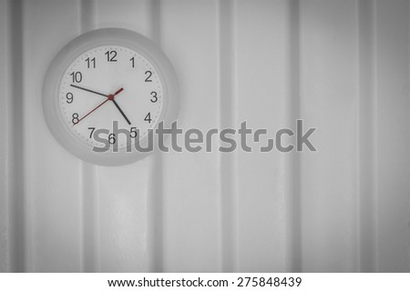 white clock - stock photo